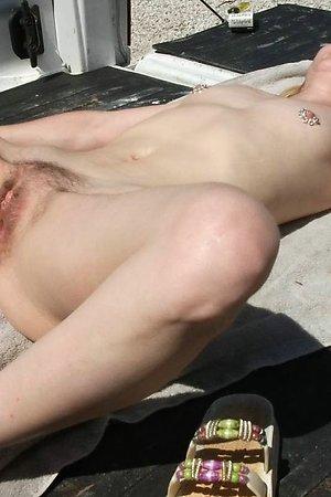 Voyeur camera at nudist beach