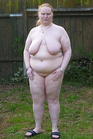 Happy nudist older ladies fully naked outdoors