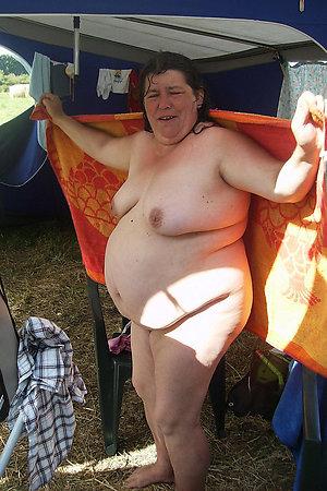 Completely naked BBW nudist BBW grandmothers