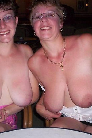 Older and plump dames flashing in the night