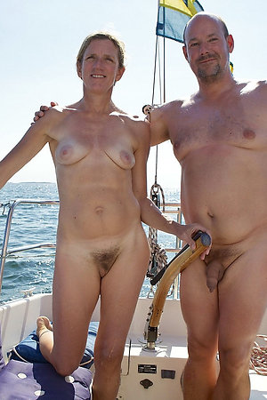 Nudist boat with older ladies