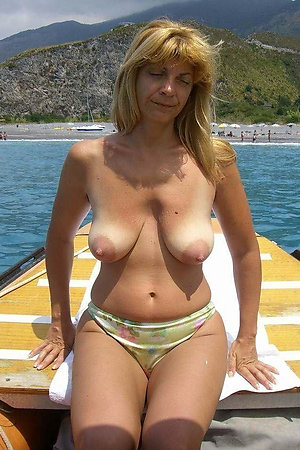 Nudist grannies on naturist boat