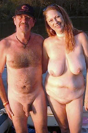 Naked boating of nudist mature women