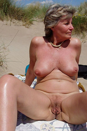 Nudist 50+ women showing their pussies
