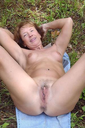 Shameless nudist grannies showing their vaginas