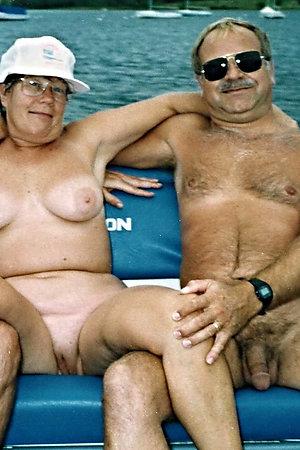 Posing nudist grannies with granddads
