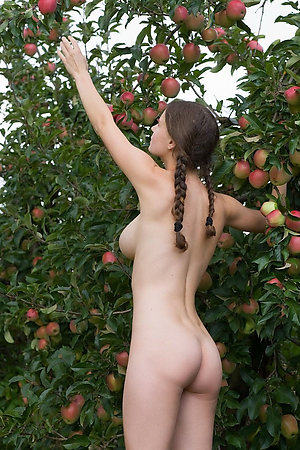 Nude virgins collecting apples and want to seduce you