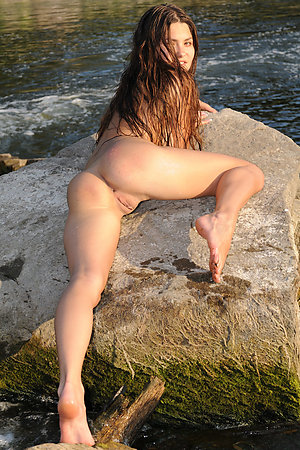 Teen nudists showing pussies and assholes