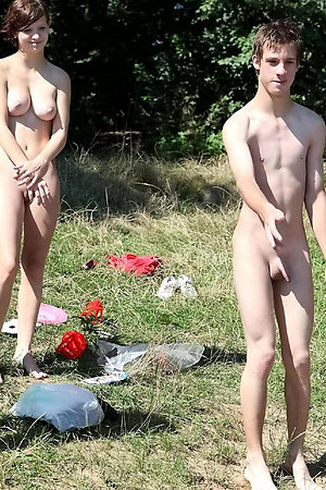 First time naturist undressing