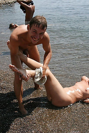 1st time undressing on nudist beach