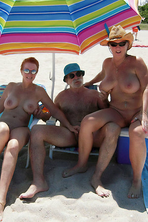 Pervert nudist man fucks his wife and girlfriend