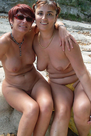 Older and younger nudist girlfriends