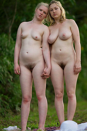 Older nudist women with younger nudist girls