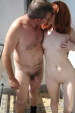 Pervert old men with young nudist girls