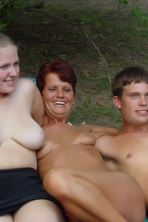 Nudist mature moms with young boys