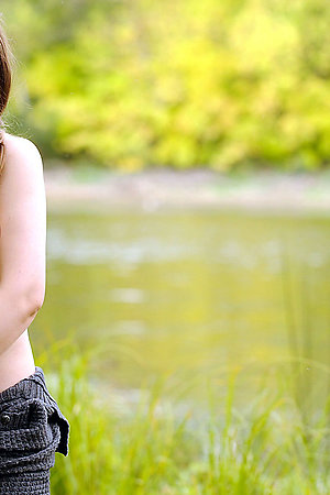 Pregnant women with big belly outdoors