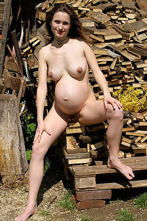 Nudist housewives on a backyard of their houses