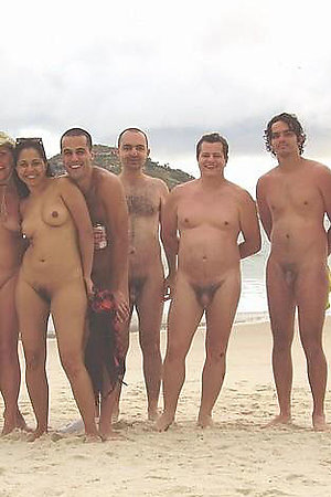 Naked people in groups